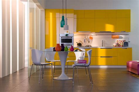meuble cuisine jaune meuble de cuisine jaune et blanc maison et mobilier d