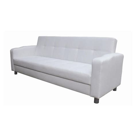 Leather Pull Out Sofa Bed 3 Seater Pull Out Futon Sofa Bed White Pu Leather Buy Sofa Beds