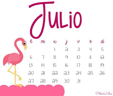 Calendario Julio 2015 Pitis And Lilus Calendario Imprimible Y Fondo Pantalla
