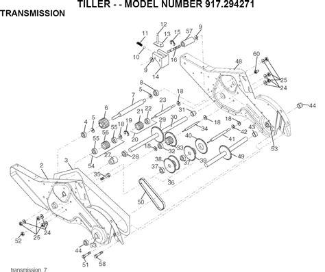 craftsman tiller parts diagram a craftsman rototiller model 917294271 the blade