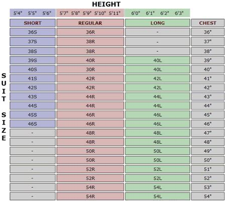 mensusa important measurement guide s suits fitting