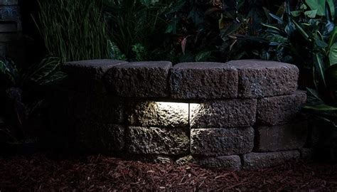 retaining wall lighting ideas low voltage led wall light and lights design outdoor