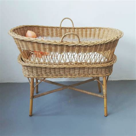 Vintage Wicker Crib by Vintage Wicker Bassinet Is The New New