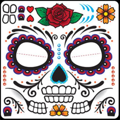day of the dead better than make up face tempoary tattoos