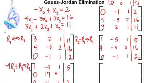 calculator gauss jordan gauss jordan elimination 3x4 matrix youtube