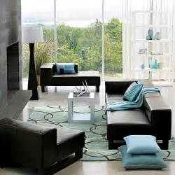 blue livingroom living rooms in blue and brown simple home decoration