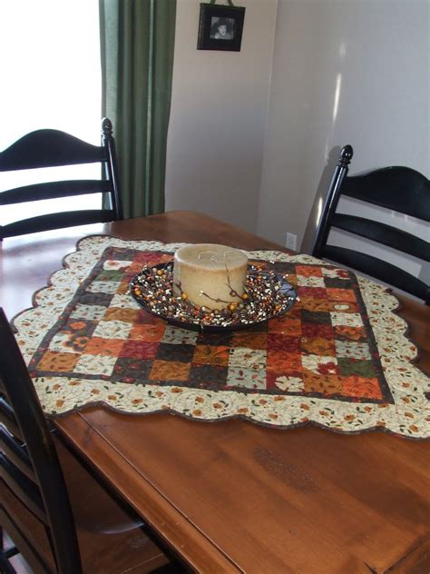 quilted tablecloth table linens gobble gobble table topper and table runner 171 moda bake shop