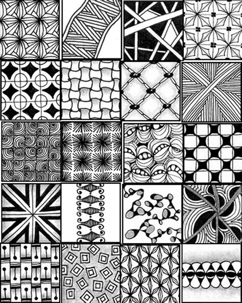 Easy Zentangle Patterns Printable | zentangle patterns printable www imgkid com the image