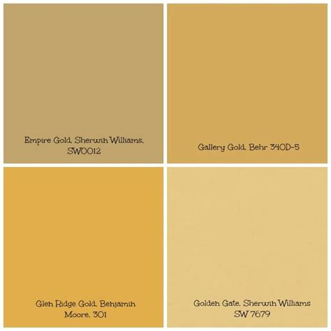 gold tinged wall paint can set creates a warm and bright