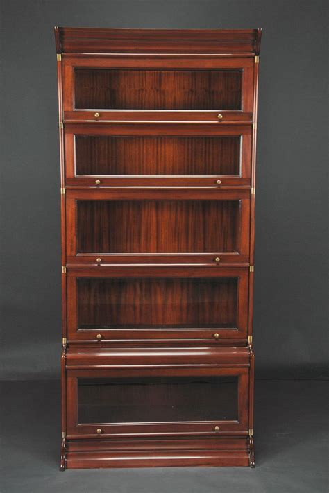 reproduction barrister stacking bookcase mahogany and