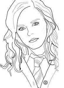 hermione granger coloring page