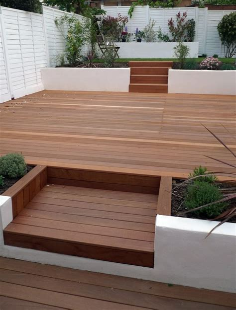 hardwood decking white retaining walls my future home pinterest hardwood decking