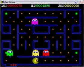 pacman oyna deluxe pacman
