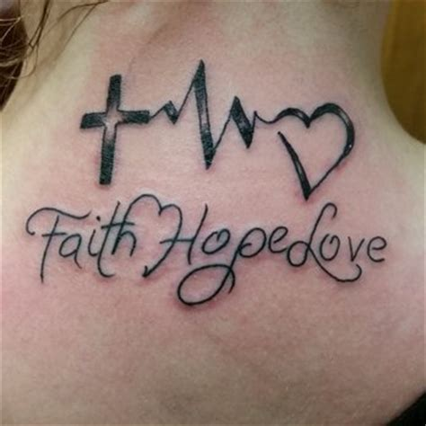faith hope and love tattoos designs ideas and meaning
