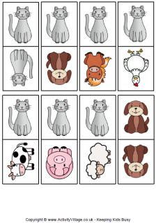printable animal dominoes animal dominoes printable backyard explorers pinterest