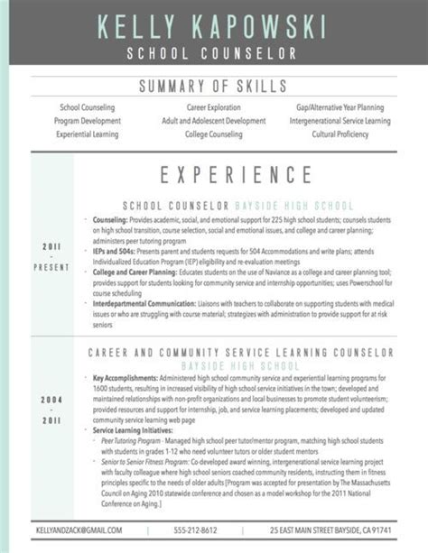 School Counselor Resume by Graphic Resume Sle For School Counselor Resume