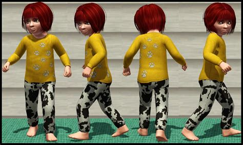 two pajamas for toddlers mod the sims two pajamas for toddlers