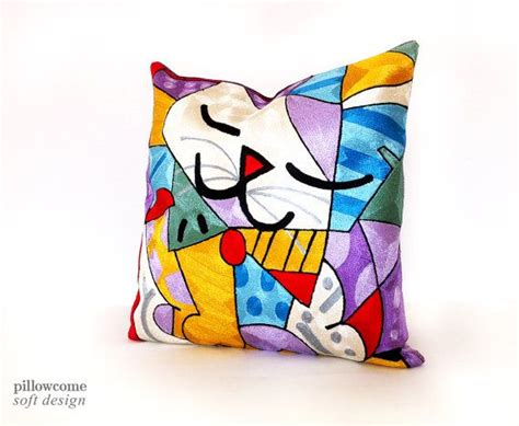 jcpenney almohadas 18x18 romero britto art decorative modern pillow by