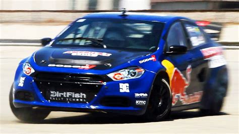 dodge j with travis pastrana in his dodge dart rally car