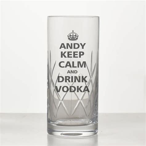Keep Calm Personalised Vodka Glass