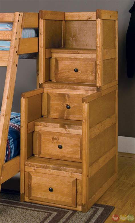 wrangle full  full bunk bed  storage drawers