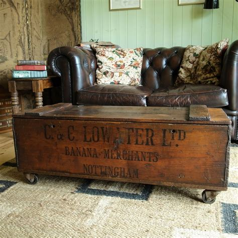 creating extra seating space with repurposed wooden chest hometalk vintage industrial chest storage trunk coffee table mid