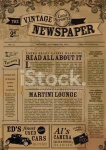 Vintage zeitung layout design vorlage stockfotos freeimages com