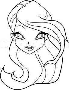 draw bloom winx club step step nickelodeon characters cartoons draw cartoon
