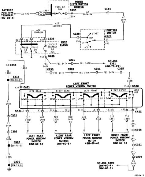 2002 jeep grand cherokee window wiring diagram search