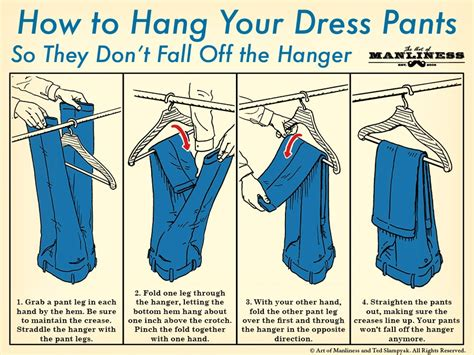 how to determine the height of the hanging kitchen island how to hang dress pants on a hanger the art of manliness