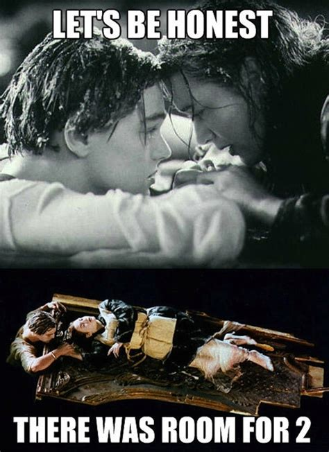 Titanic Door Meme - kate winslet admits rose could have saved jack in titanic