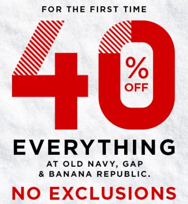 old navy coupons cyber monday old navy banana republic gap 40 off everything