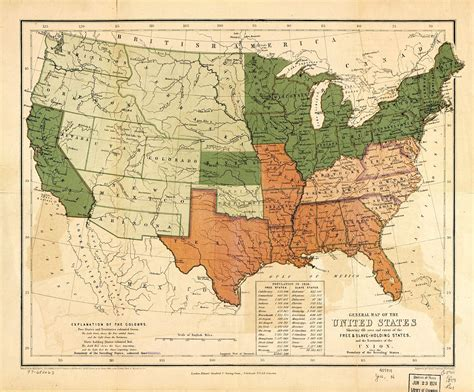 map of the united states slavery learncivilwarhistory com civil war history and stories