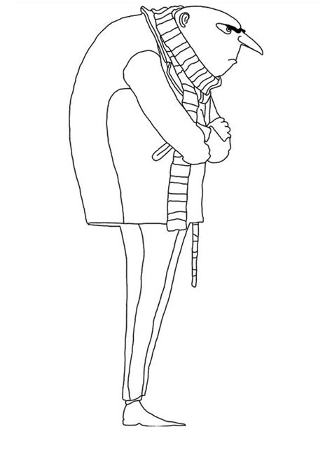 free coloring pages of gru despicable me