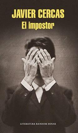 libro el impostor el impostor letras y fotogramas