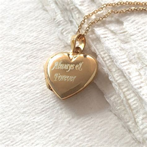 personalised gold heart locket necklace hurleyburley