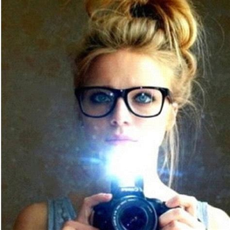 blonde hairstyles with glasses blonde hair updo geek glasses camera canon cos