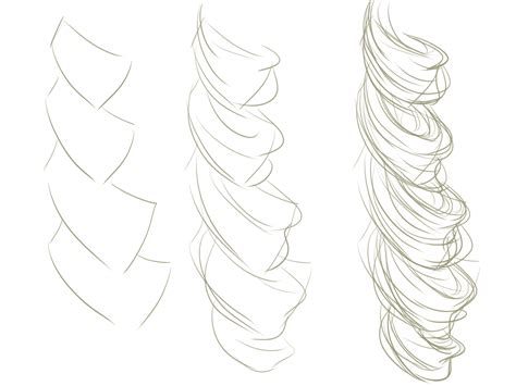 drawing curly hair how to draw curly hair google search hair tutorial ref