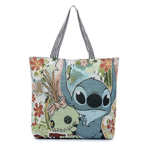 Totebag Flowly Flower fashion 3d printing stitch canvas tote bag flowers handbag shoulder bags