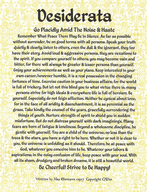 desiderata poesia testo desiderata poem pdf pictures to pin on pinsdaddy