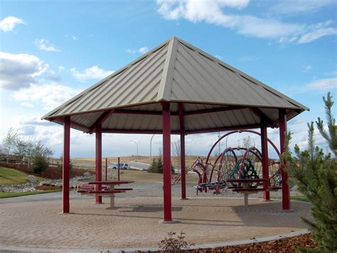 Steel Gazebo Steel Gazebos Maranda Series Custom Park Leisure