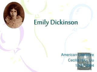 emily dickinson biography ppt ppt emily dickinson and sylvia plath powerpoint