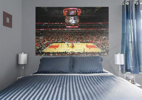 wall murals chicago chicago bulls arena mural wall decal shop fathead 174 for chicago bulls decor