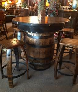 Barrel Kitchen Table Rustic Pub Table Whiskey Barrel Pub Table Western Bar Table