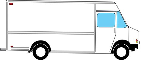 Blank Truck Clipart Clipart Suggest Blank Food Truck Template