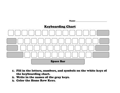 template of computer keyboard worksheets typing worksheets opossumsoft worksheets and