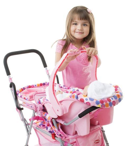 pink toy joovy toy doll caboose tandem stroller pink dot