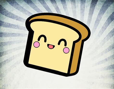 imagenes de tostadas kawaii dibujo de pan kawaii pintado por en dibujos net el d 237 a 01