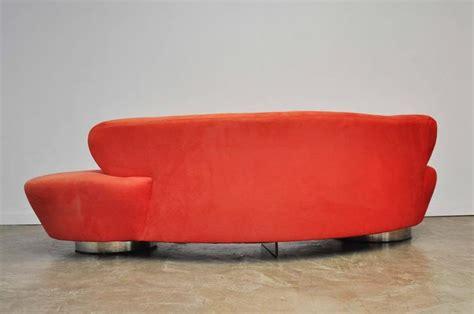 vladimir kagan sofa for sale vladimir kagan serpentine sofa on chrome bases for sale at