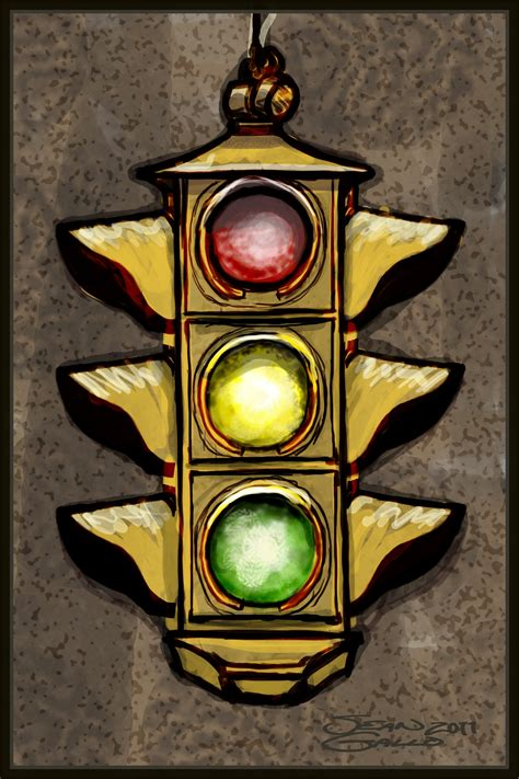 Traffic Light Drawing by Stoplight Gallo Designs